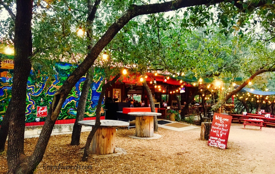 Angel's Icehouse a very cool Texas Roadhouse/Biker Bar/Family Fun Spot in Spicewood Texas…
